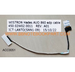 ACER LCD Cable สายแพรจอ   Aspire VN7-591   VN7-591G  VN7-791  VN7-791G  (30 Pin)   450.02w02.0011