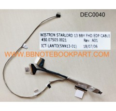 DELL LCD Cable สายแพรจอ Inspiron 13 7368 P/N 0VFF2J    (40 Pin)    450.07S05.0021