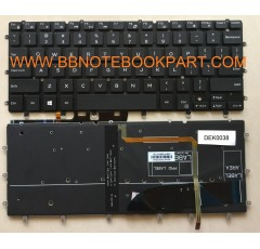 Dell Keyboard คีย์บอร์ด Inspiron 13-7000 SERIES 13-7347 13-7348 13 7347 7348 (With back light)